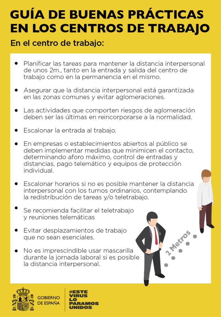 Guía de buenas prácticas en los centros de trabajo