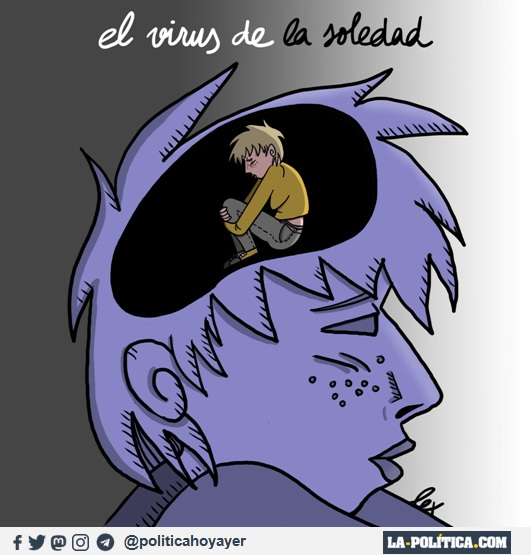 El virus de la soledad (Viñeta de Lex)
