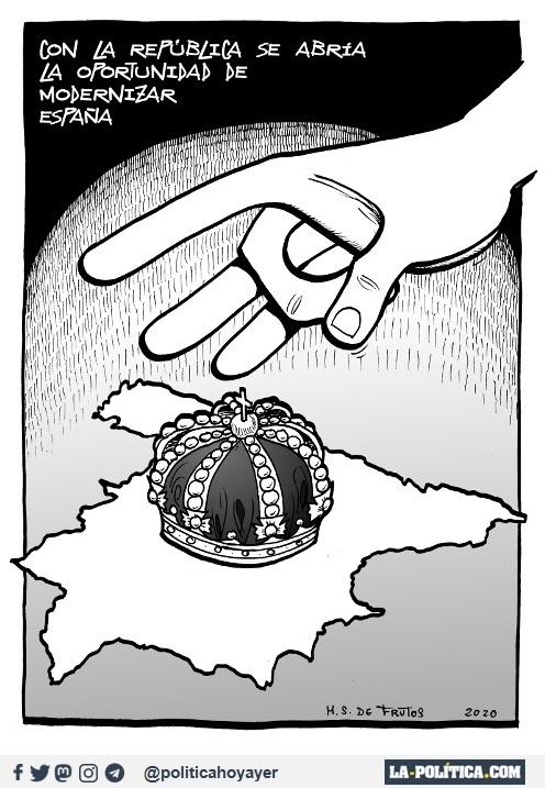 CON LA REPÚBLICA SE ABRÍA LA OPORTUNIDAD DE MODERNIZAR ESPAÑA. (Viñeta de Manuel S. de Frutos)