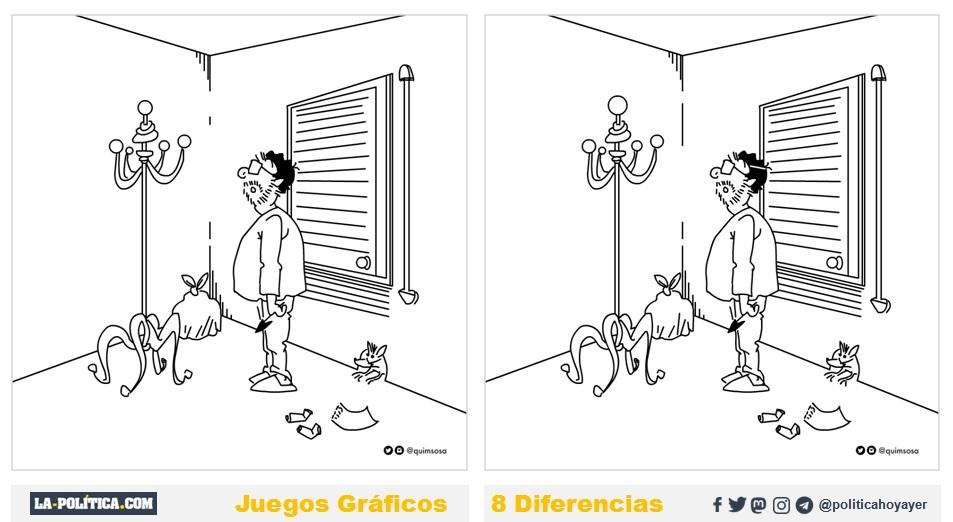 Juego de las 8 diferencias (2) con Quim