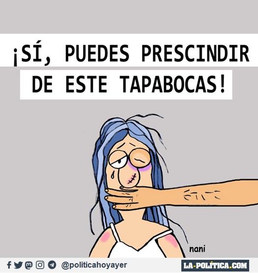 ¡SÍ, PUEDES PRESCINDIR DE ESTE TAPABOCAS! (Viñeta de Nani)