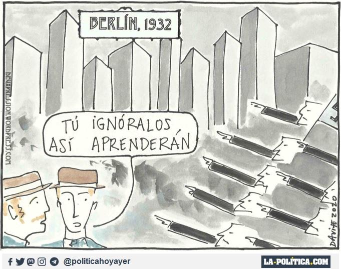 BERLÍN 1932. - Tú ignóralos, así aprenderán. (Viñeta de Davite)
