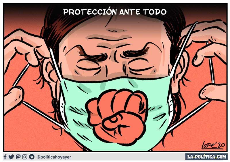 PROTECCIÓN ANTE TODO. (Viñeta de Lope)