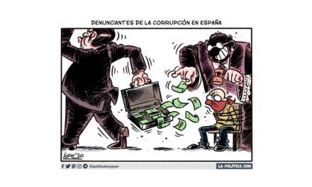 Quienes denuncian la corrupción en España son perseguidos