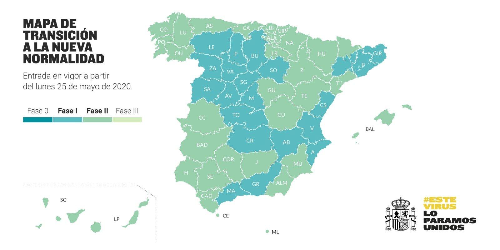 MAPA DE TRANSICIÓN A LA NUEVA NORMALIDAD - 25-05-2020