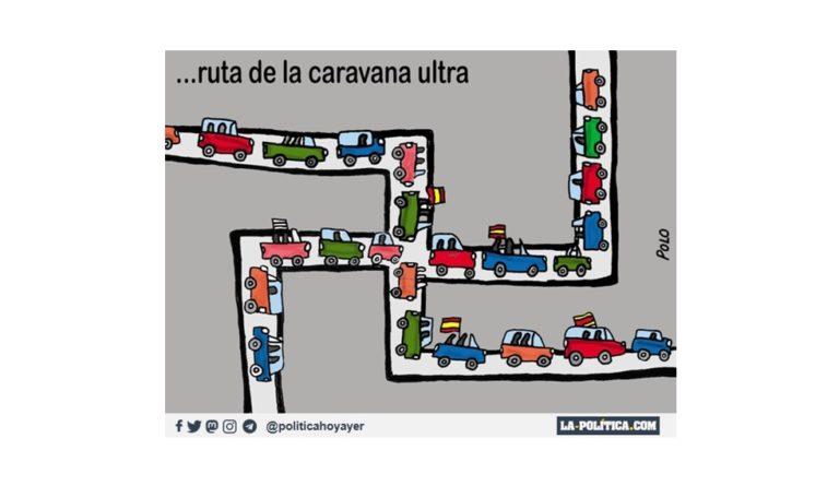 ...RUTA DE LA CARAVANA ULTRA (Viñeta de Polo)