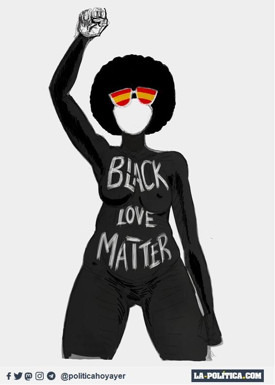 BLACK LOVE MATTER (Viñeta de JamónYQueso - Ramón Nzé Esono)