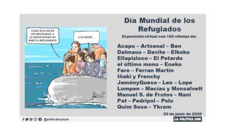 """20 de junio, Día Mundial de los Refugiados. Exposición virtual con 100 viñetas: """"Los refugiados del eterno retorno"""""""