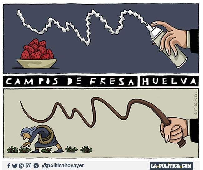 CAMPOS DE FRESA. HUELVA. (Viñeta de Eneko)