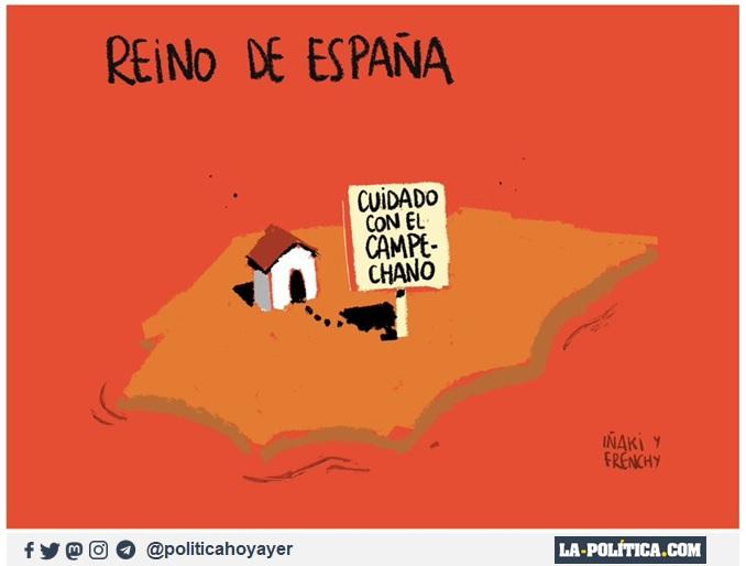 REINO DE ESPAÑA. CUIDADO CON EL CAMPECHANO. (Viñeta de Iñaki y Frenchy)