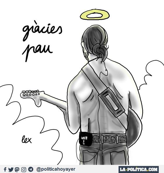 Gràcies Pau. (Gracias Pau) Viñeta de Lex a Pau Donés