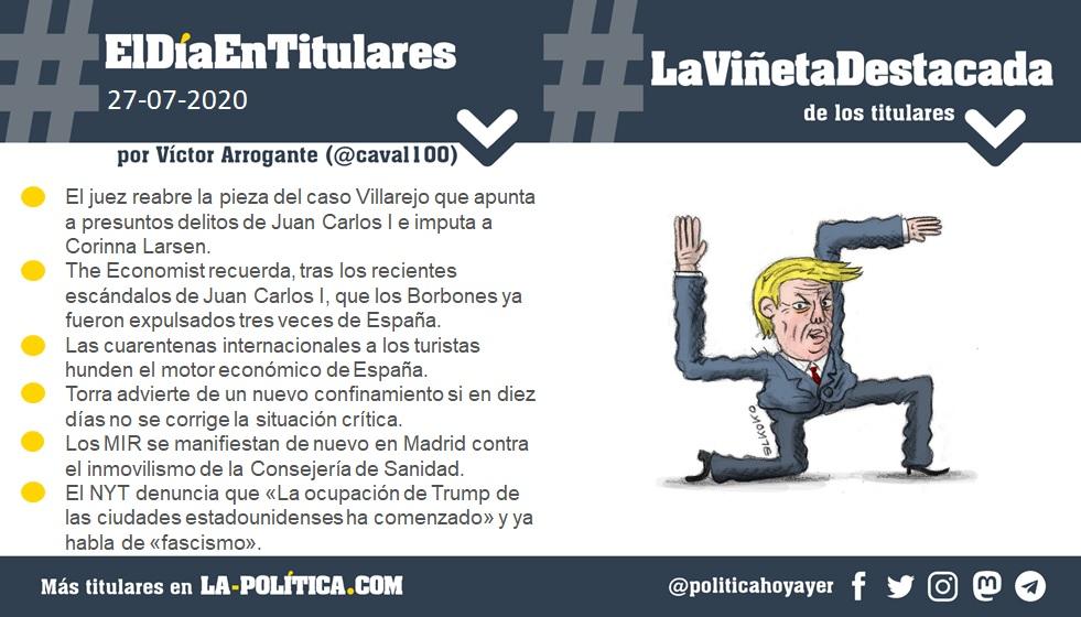 Resumen por Víctor Arrogante y viñeta por Elkoko. Humor gráfico. Noticias. Opinión. Memoria histórica.
