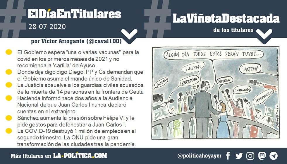 Resumen por Víctor Arrogante y viñeta por Davite. Humor gráfico. Noticias. Opinión. Memoria histórica.