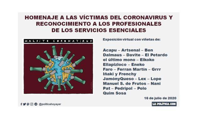 Exposición virtual de viñetas: Homenaje a las víctimas del coronavirus y reconocimiento a los profesionales de los servicios esenciales
