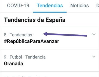 #RepúblicaParaAvanzar fue 8 tendencia el 1 de julio de 2020
