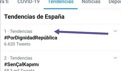 #PorDignidadRepública fue TT 1 el 22-07-2020