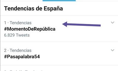 El HT #MomentoDe República alcanzó el TT 1 el 29-07-2020