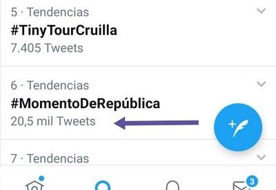 El HT #MomentoDeRepública tuvo más de 20,5K tuits el 29-07-2020