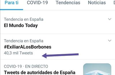 El HT #ExiliarALosBorbones tuvo más de cuarenta mil trescientos tuits