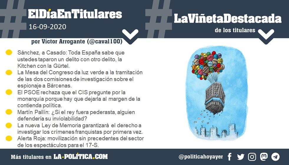 16 de septiembre de 2020 Resumen por Víctor Arrogante y viñeta por Elkoko. Humor gráfico. Noticias. Opinión. Memoria histórica.