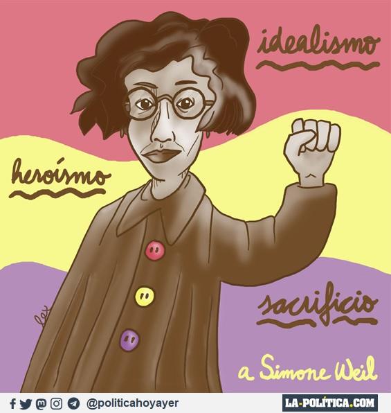 Idealismo. Heroísmo. Sacrificio. A Simone Weil. (Viñeta de Lex)