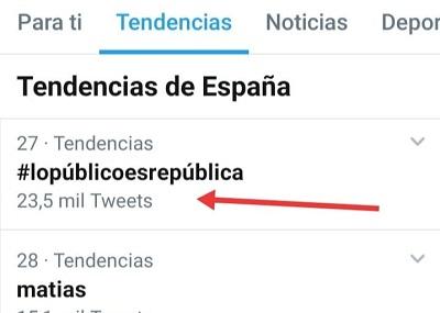 El HT #LoPúblicoEsRepública tuvo más de 23.500 tuits