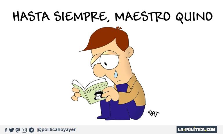 - Hasta siempre, maestro Quino (Viñeta de Pat)