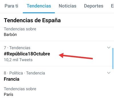 El HT #República18Octubre fue TT el miércoles 14 de octubre