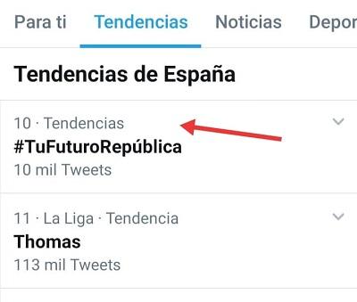 #TuFuturoRepública fue TT el 29 de septiembre de 2020