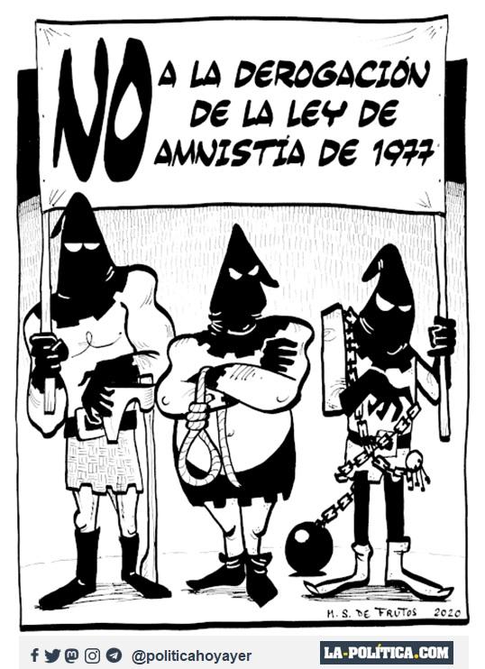 NO A LA DEROGACIÓN DE LA LEY DE AMNISTÍA DE 1977. (Viñeta de Manuel S. de Frutos)