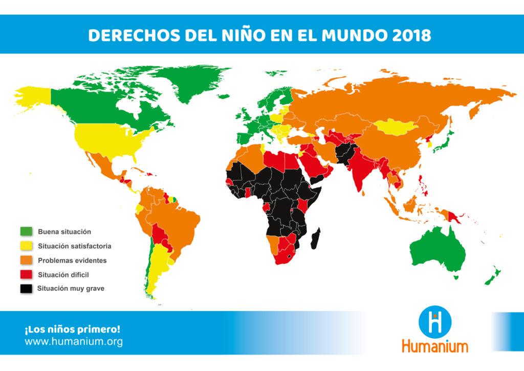 Mapa de los Derechos del Niño en el mundo (2018)