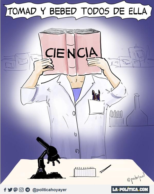 TOMAD Y BEBED TODOS DE ELLA: CIENCIA. (Viñeta de Pedripol)