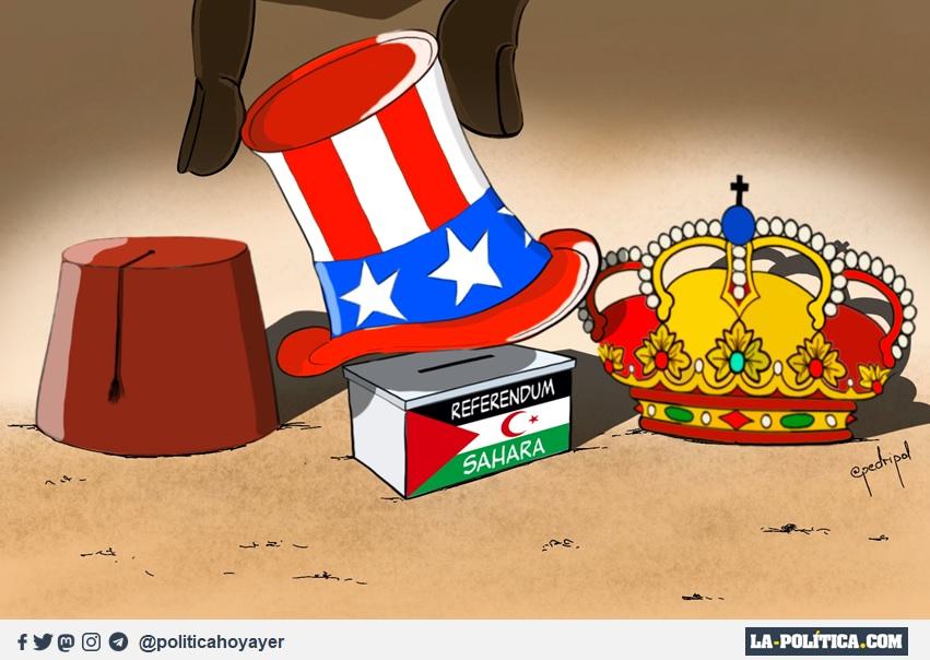 El prometido referéndum del Sahara Occidental. (Viñeta de Pedripol)
