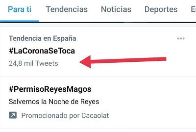 El HT #LaCoronaSeToca fue apoyado por más de 24.800 tuits el 16 de diciembre de 2020