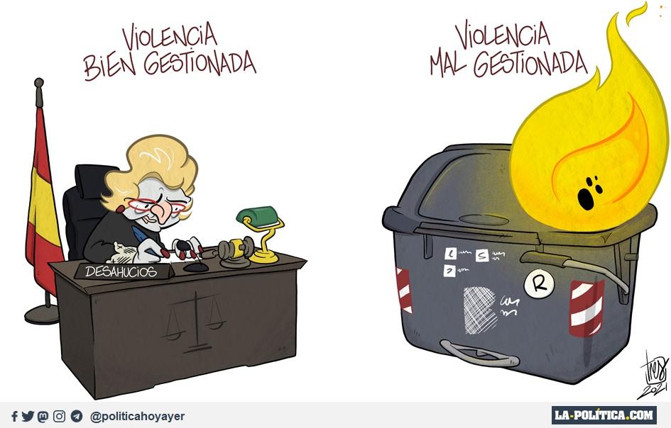 VIOLENCIA BIEN GESTIONADA. VIOLENCIA MAL GESTIONADA (Viñeta de Tres)