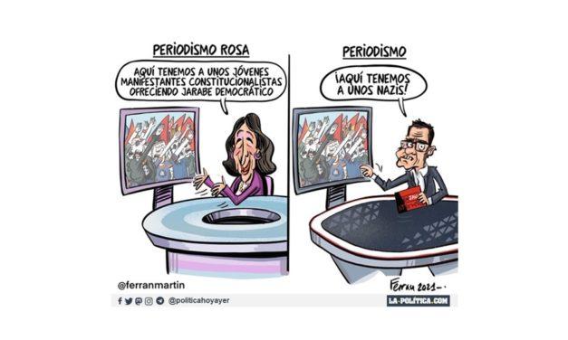 """En el programa de Ana Rosa tildan de """"jarabe democrático"""" el acoso de nazis a Pablo Iglesias en un acto electoral"""