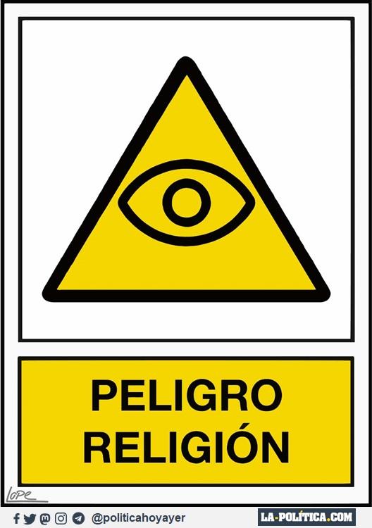 PELIGRO RELIGIÓN (Viñeta de Lope)