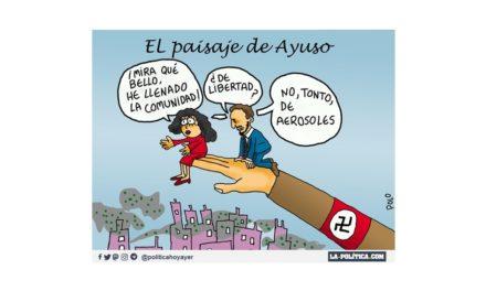 Últimas acciones de Ayuso: privatiza las citas de vacunación, incluye en su lista de Madrid a un desterrado del Consejo de la UE por corrupción y apoya la provocación de Abascal en Vallecas