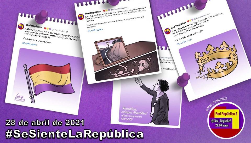 Imagen del HT #SeSienteLaRepública del 28-04-2021