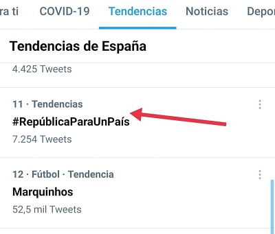El HT #RepúblicaParaUnPaís fue TT