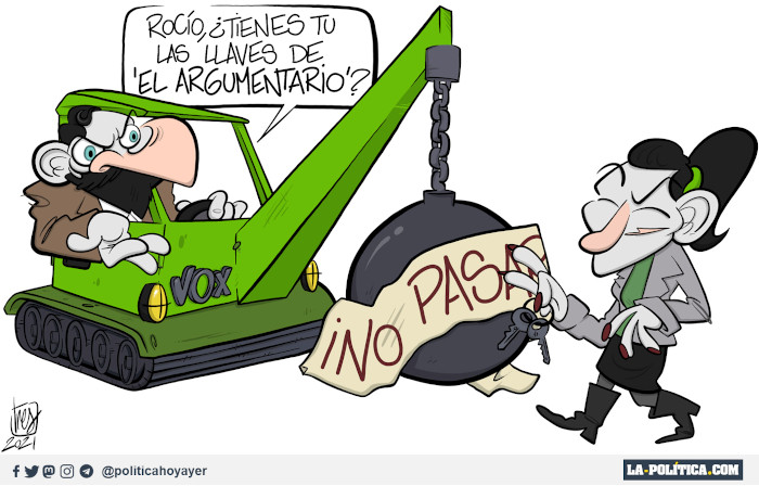 """¡NO PASAR...! - Rocío, ¿Tienes tu las llaves de """"el argumentario""""? (Viñeta de Tres)"""