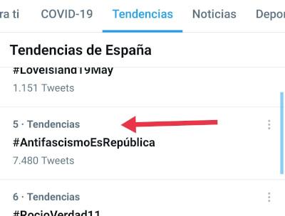 TT del HT #AntifascismoEsRepública