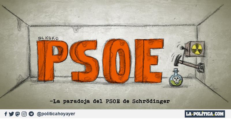 - La paradoja del PSOE de Schrödinger (Viñeta de ELkoko)