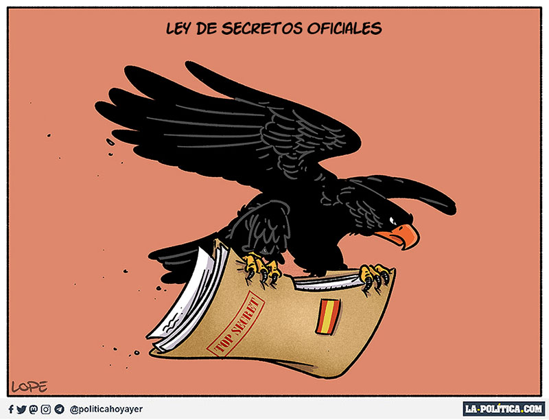 Ley de secretos oficiales - Viñeta de Lope