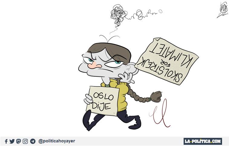 SKOLSTRIKE FOR CLIMATE. OS LO DIJE. Viñeta de Tres.